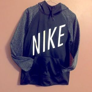 Nike dry-fit black and white hoodie